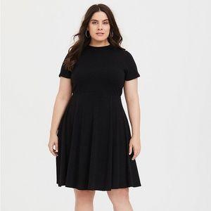 Torrid Black Mock Neck Sweater Dress - Size 1X